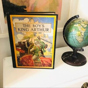 Vintage 1939 illustrated ed The Boy's King Arthur